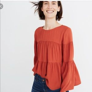 Madewell tiered button back shirt